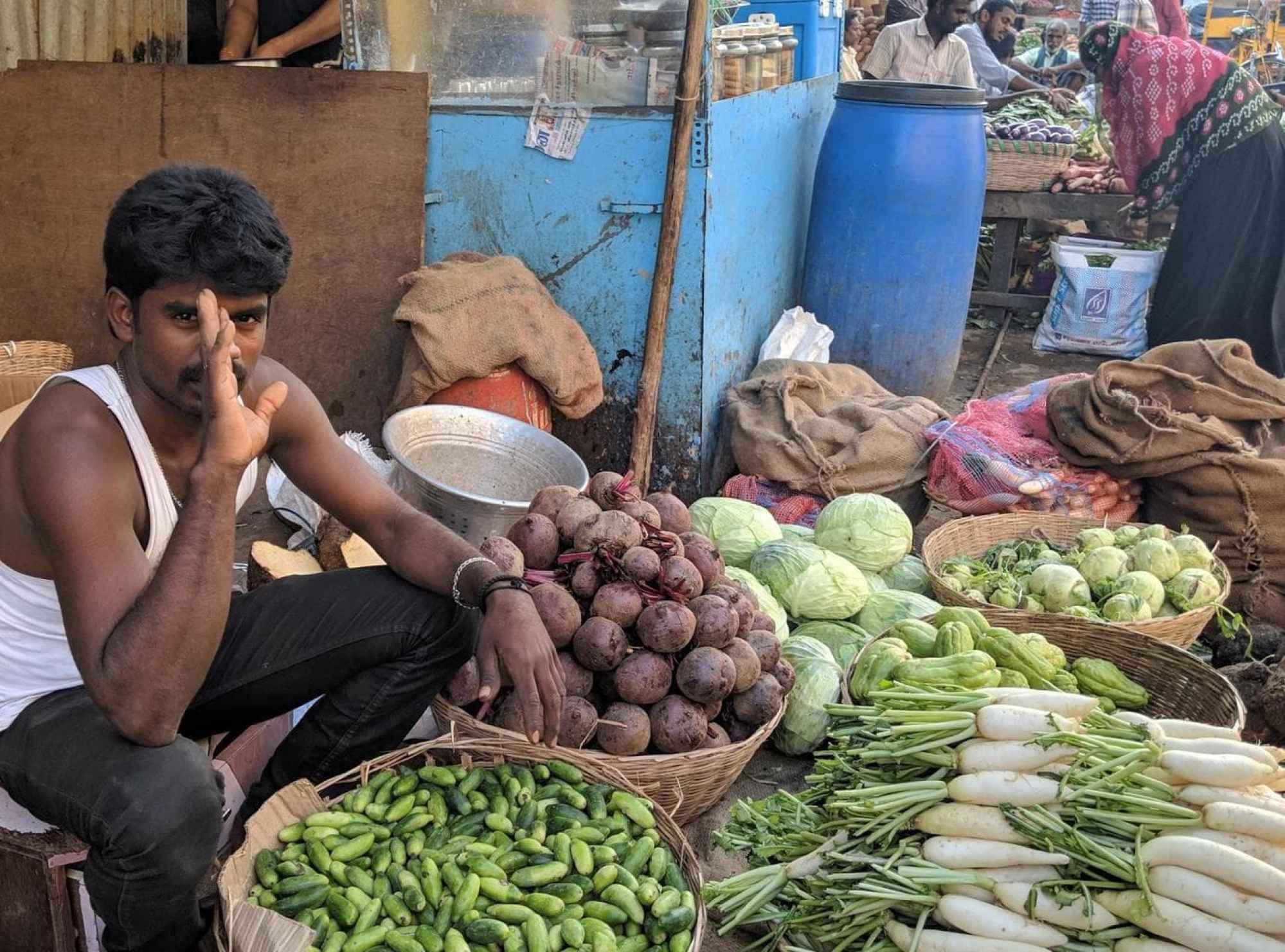 Georgetown market produce seller
