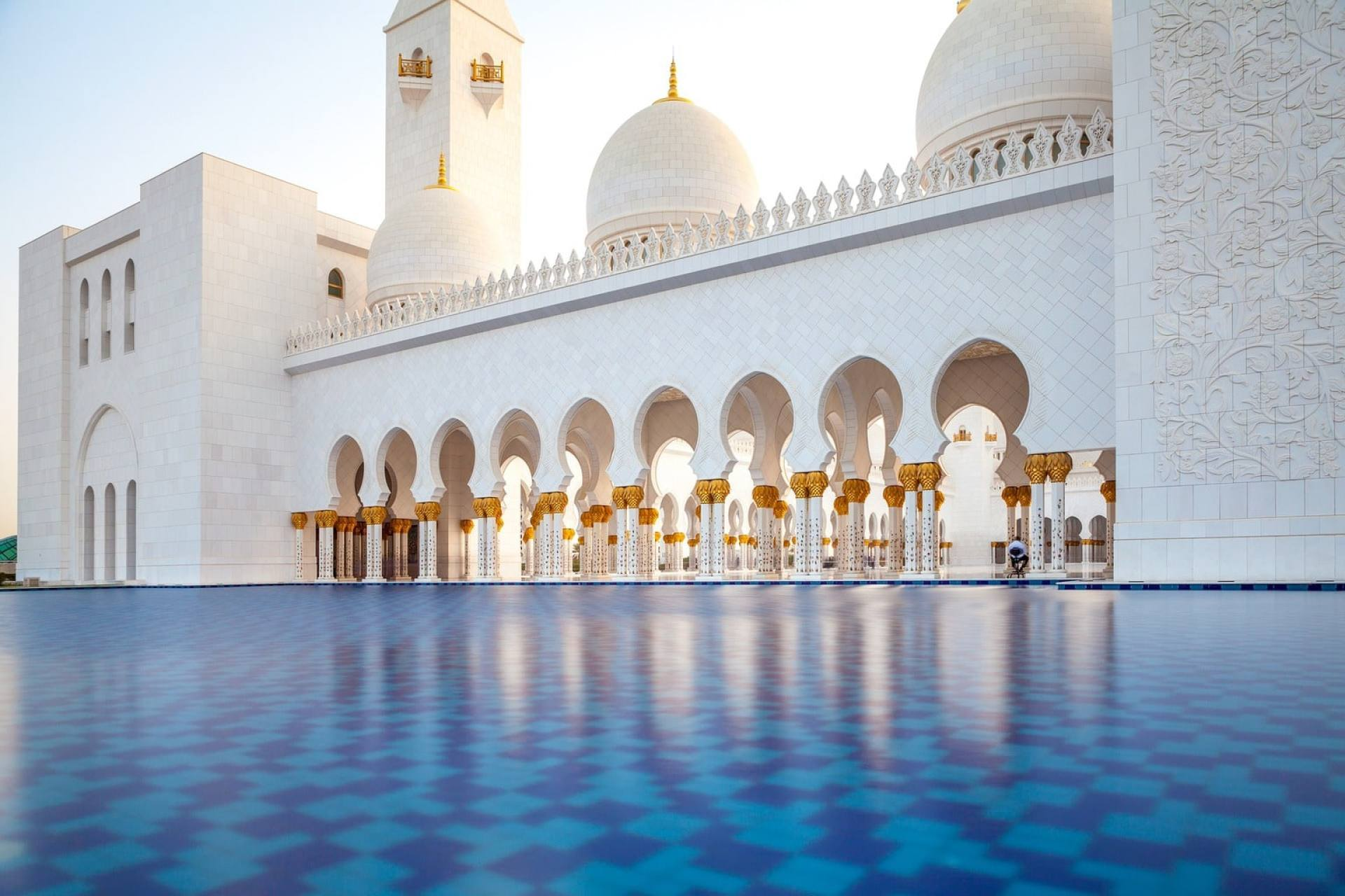 Grand Mosque in Abu Dhabi view