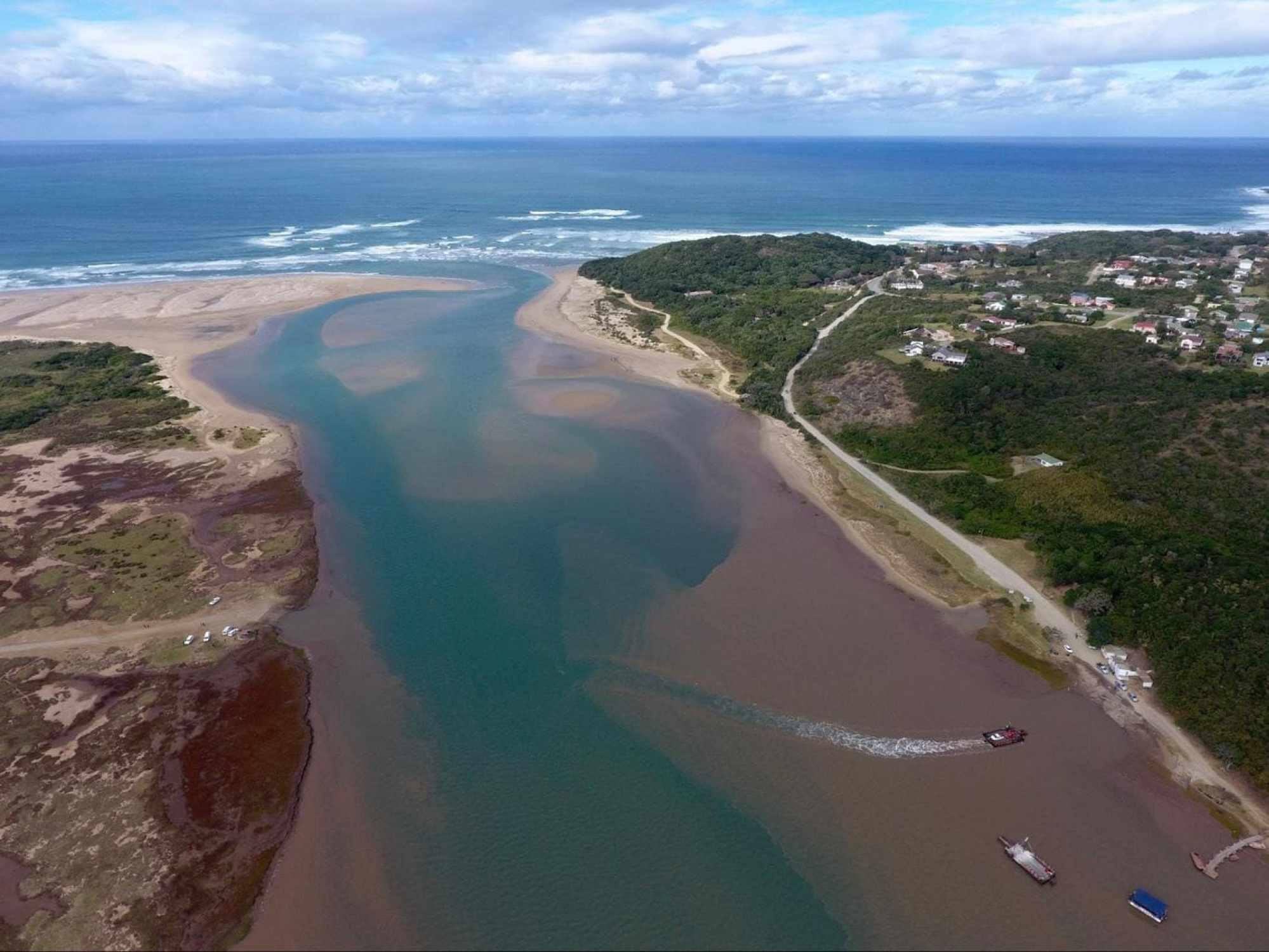 Key River Mouth, where topsoil creates the brownish colour