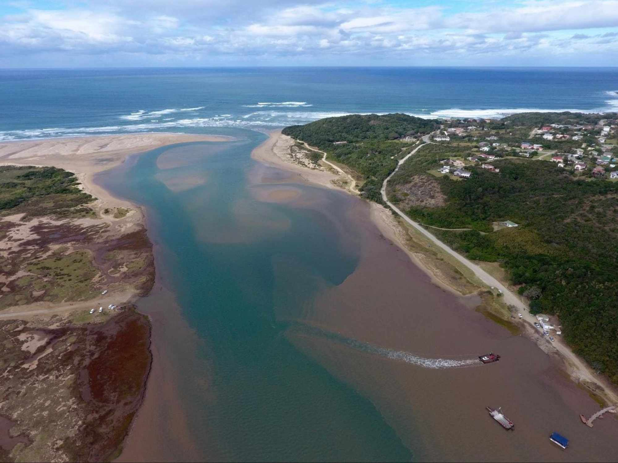 Key River Mouth, where topsoil creates the brownish colour