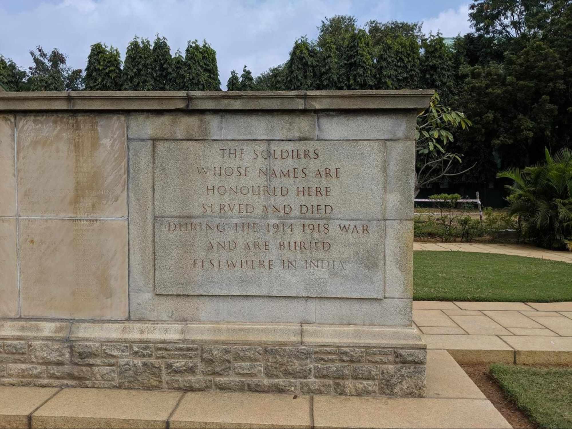 Madras War Cemetery memorial