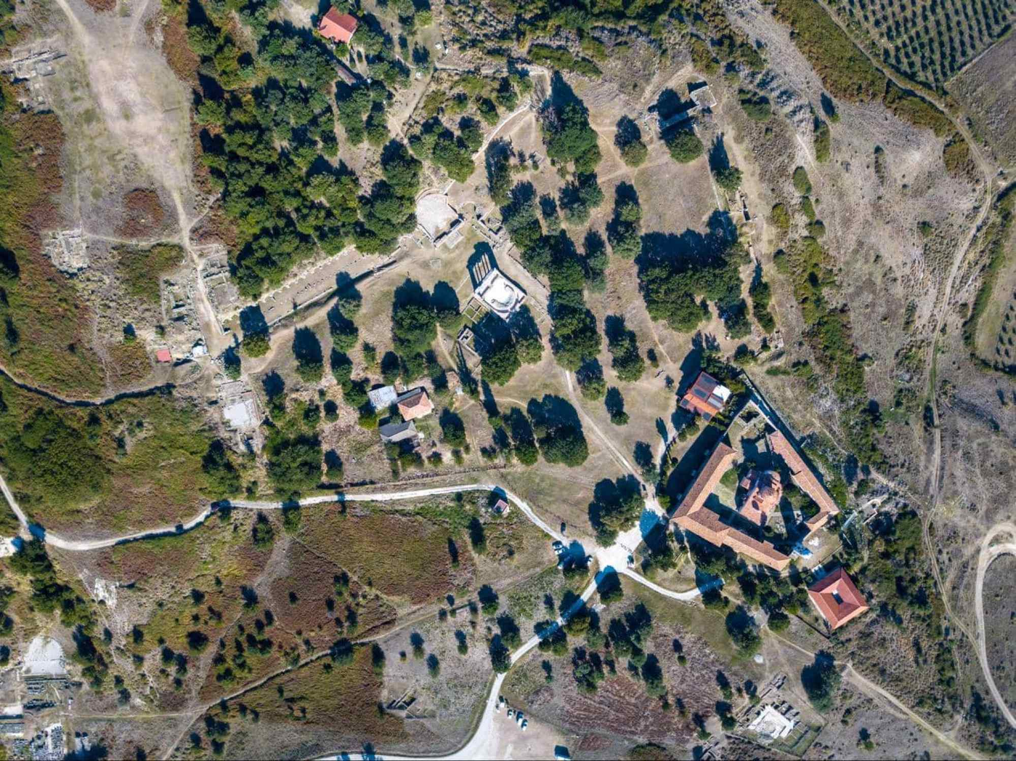 Apollonia Archaeological Park drone shot