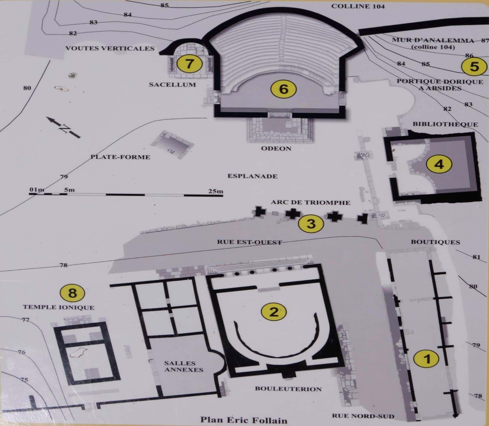 Apollonia Archeological Park map