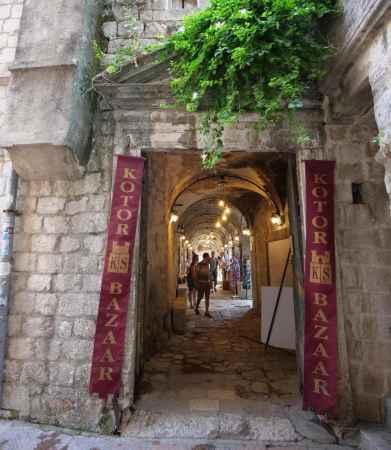 Kotor Bazaar entrance