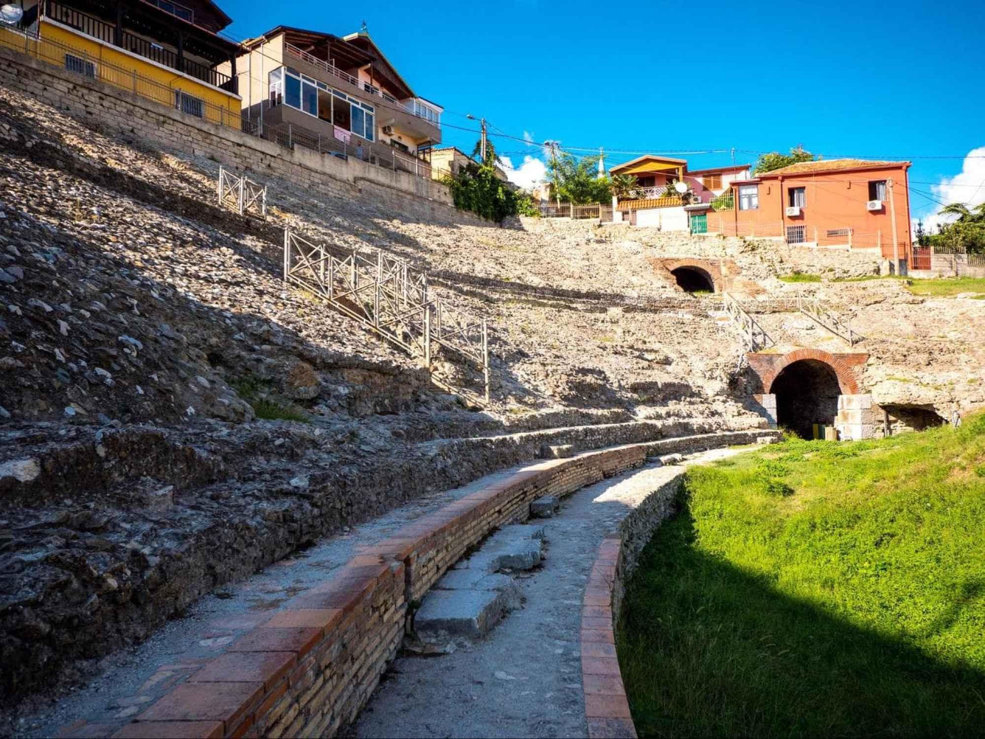 Roman Amphitheatre of Durres up close