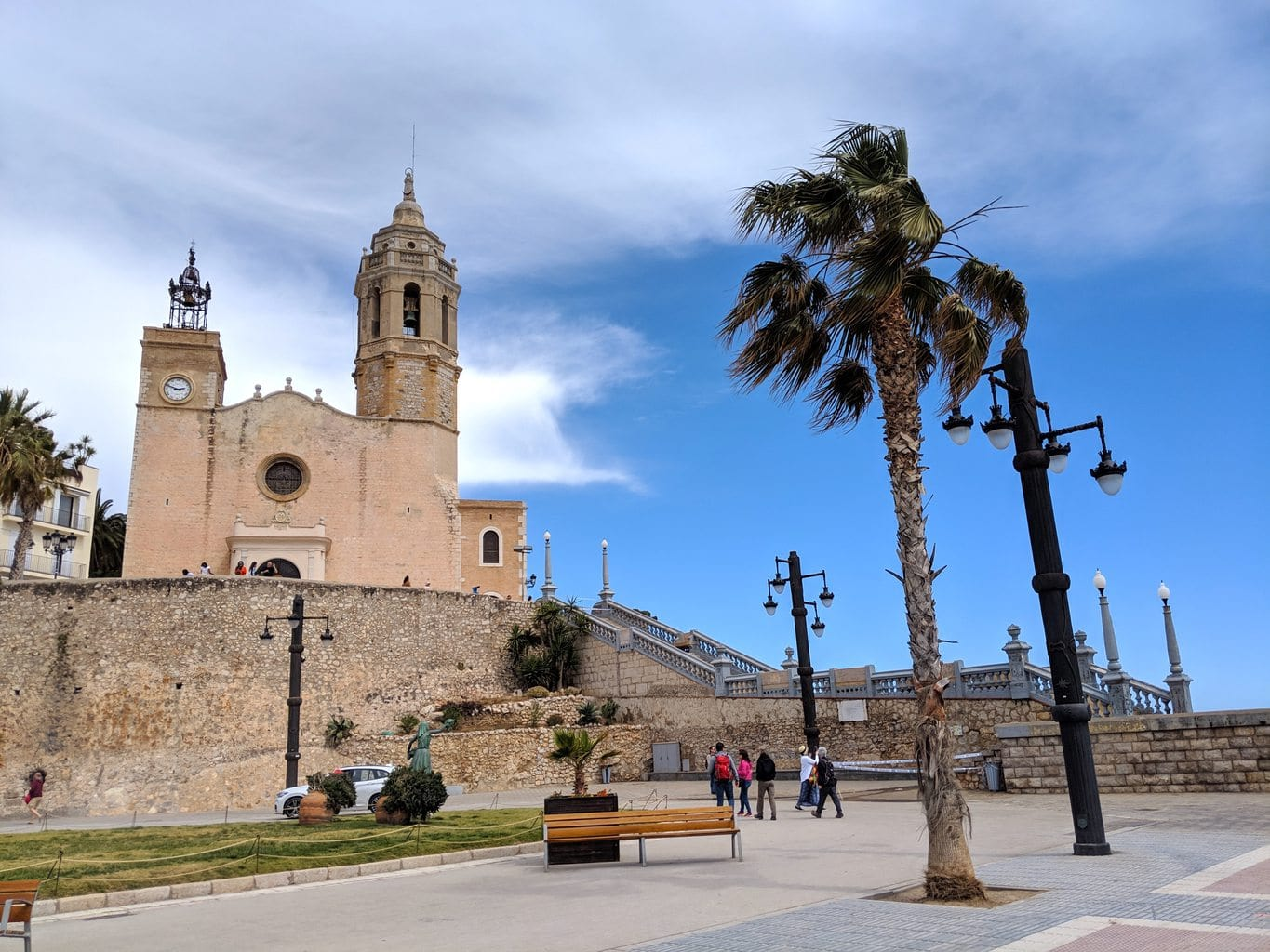 """Church of St. Batholomeu in Sitges"""