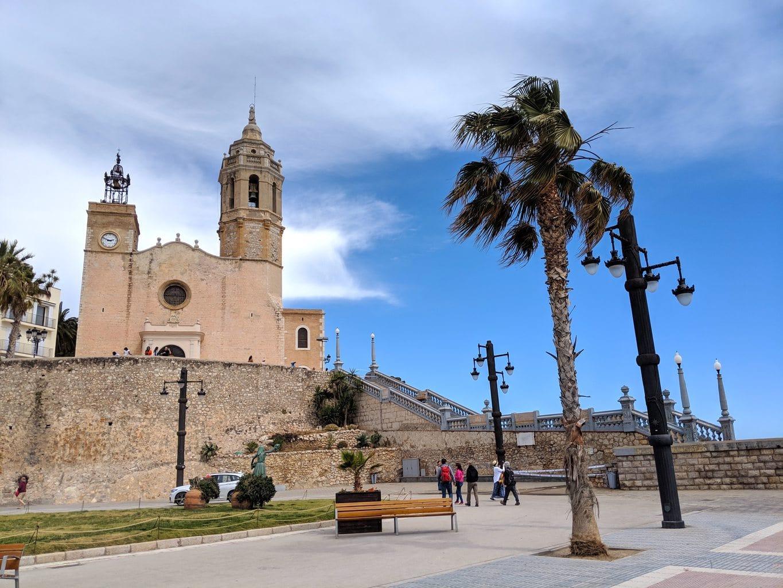 """Church of St. Batholomeu in Sitges"""