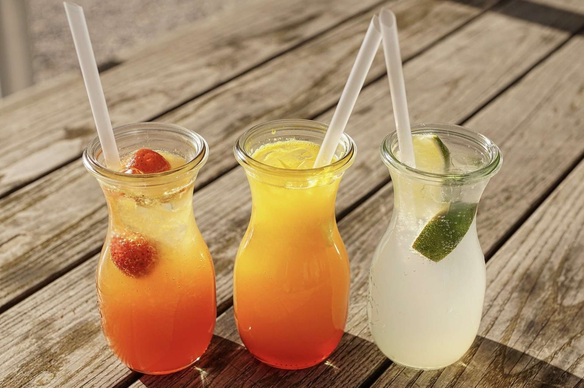 Aguas frescas - water is usually drunk flavored in Mexico