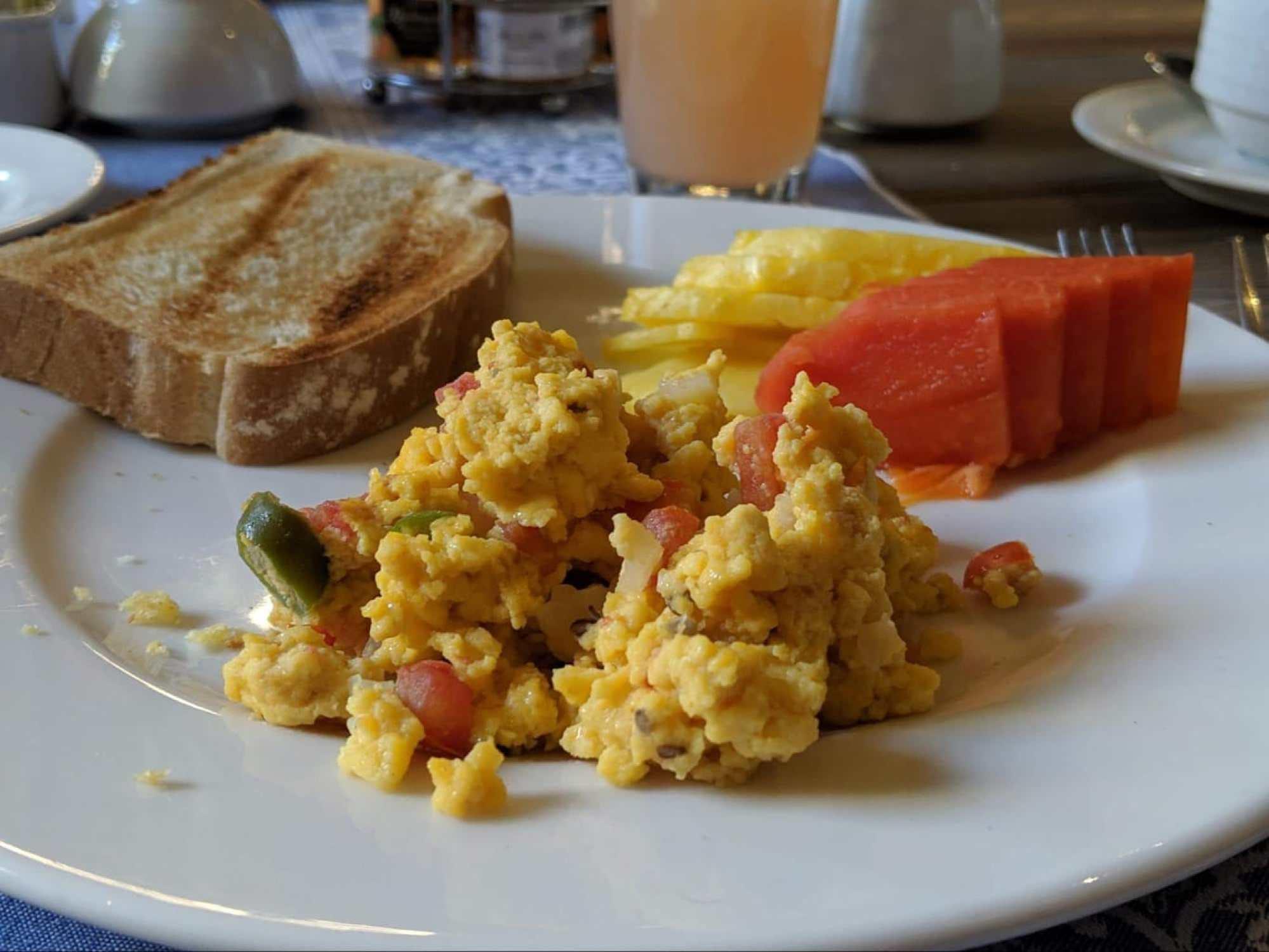 Huevos a la Mexicana, or Mexican scrambled eggs