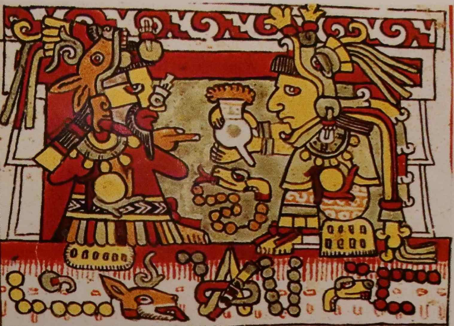 Cocoa in a Mayan painting