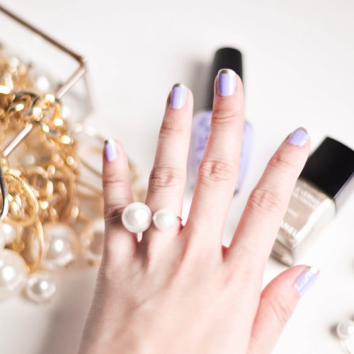 Lilac French Manicure