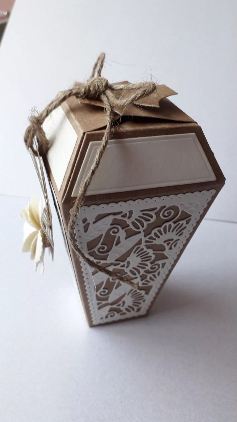 Brown Lantern Shaped Box