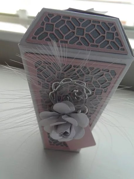 Grey And Pink Lantern Shaped Box