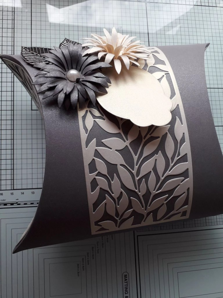 Brown And Cream Pillow Box