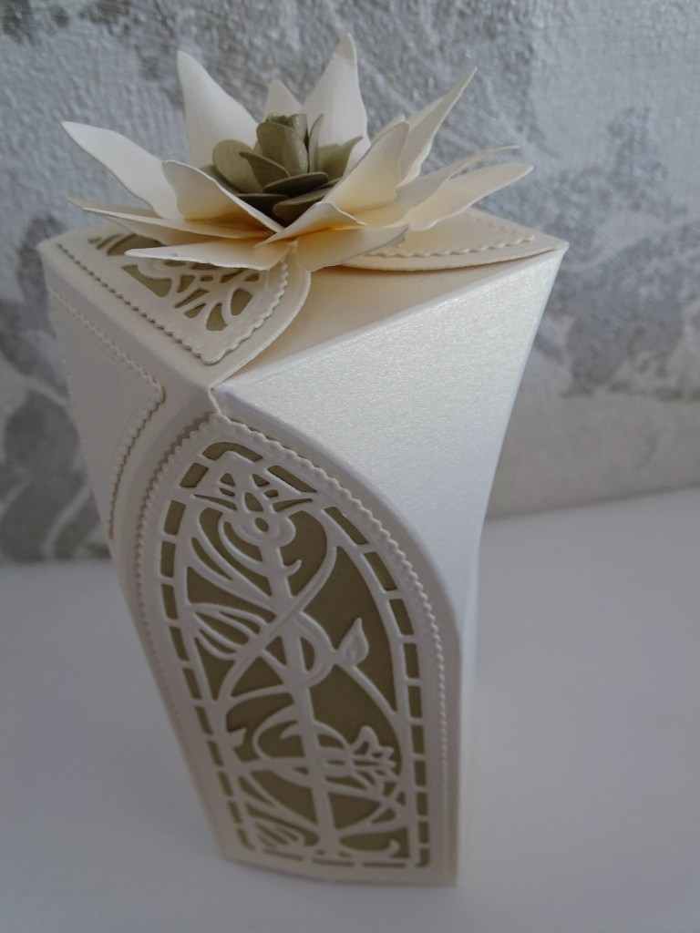 Cream Flower Cathedral Box