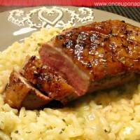 Duck breast with Orange Risotto‏