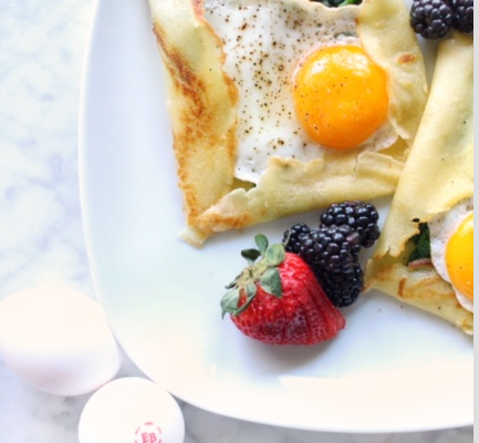 Savory Egg Crepes for Mom