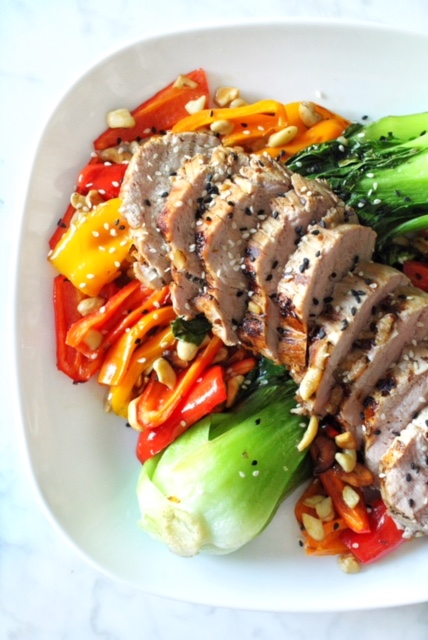 Grilled Asian Pork Tenderloin Medallions