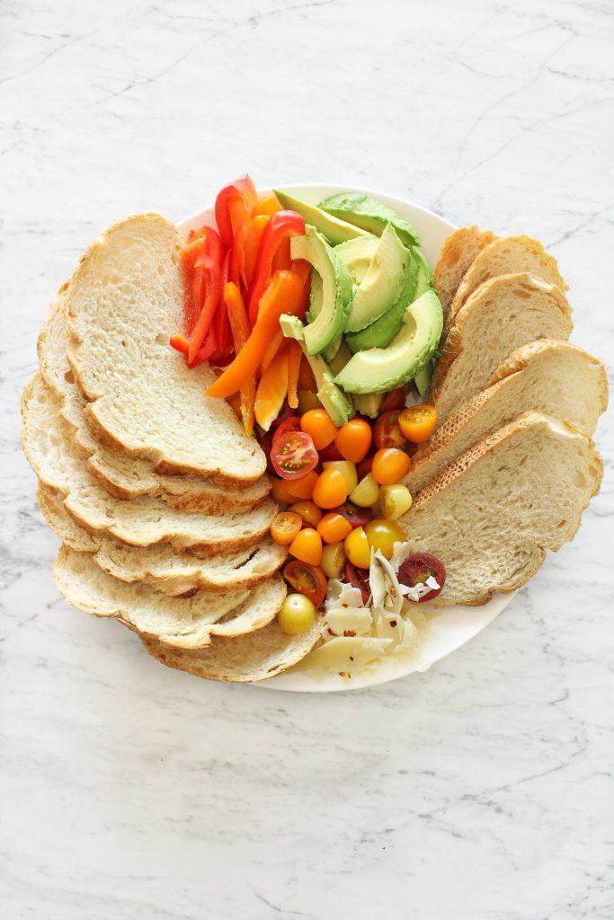 avocado toast plate