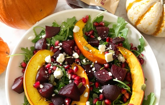 Roasted Beet & Pumpkin Salad Plus a Halloween Treat with Beets!