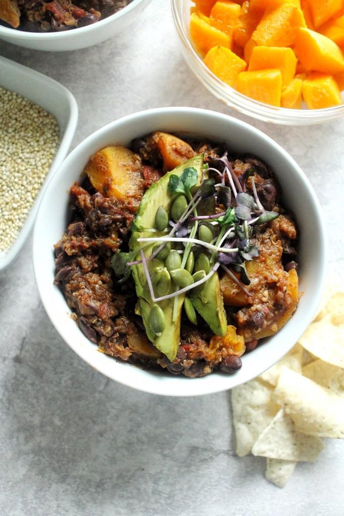 butternut squash quinoa chili