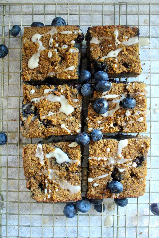 paleo pumpkin blueberry bars