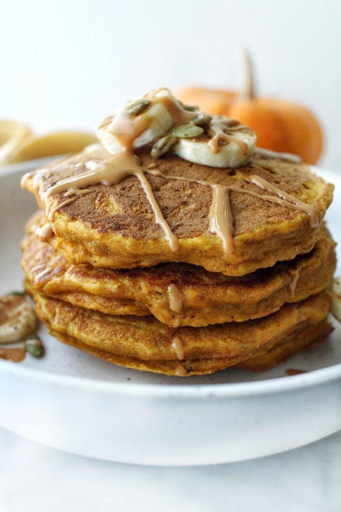 dairy free pumpkin banana pancakes