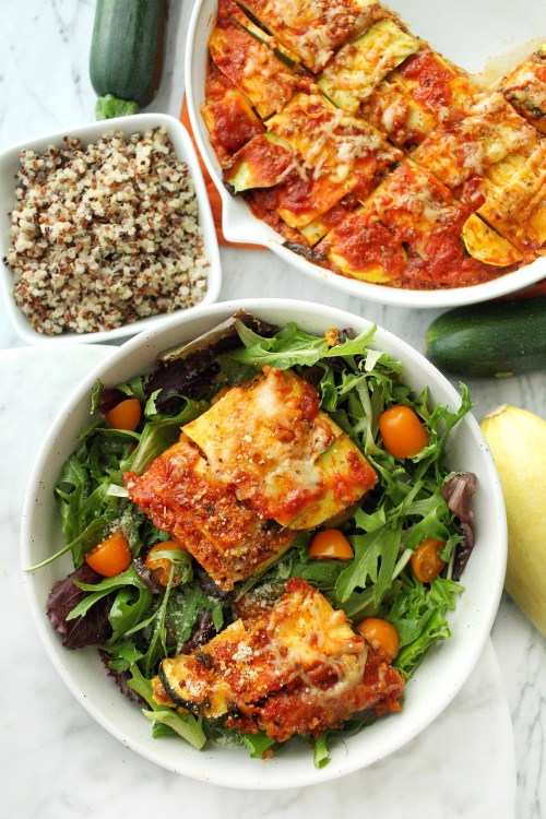 Healthy Zucchini Lasagna with Quinoa