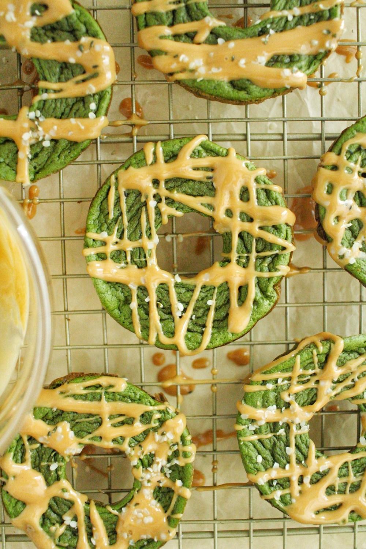 Spinach Banana Donuts
