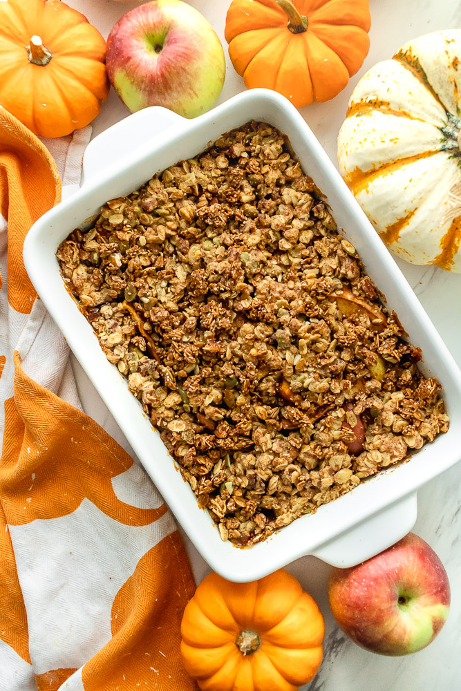 how to make a healthy pumpkin apple crisp