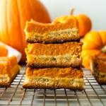 paleo pumpkin pie shortbread bars