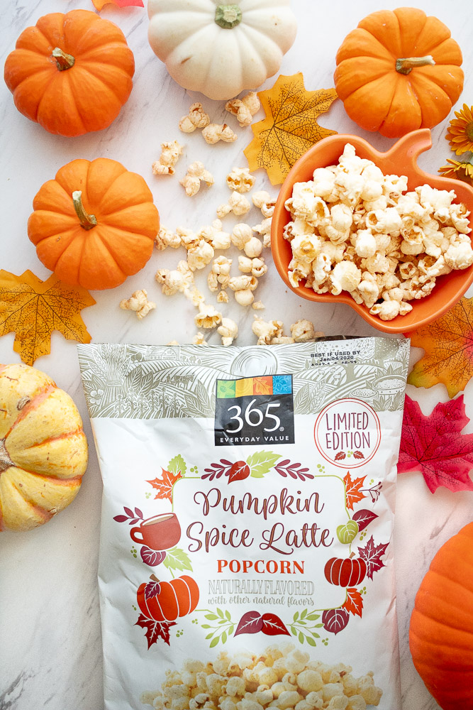 pumpkin spice latte popcorn at whole foods