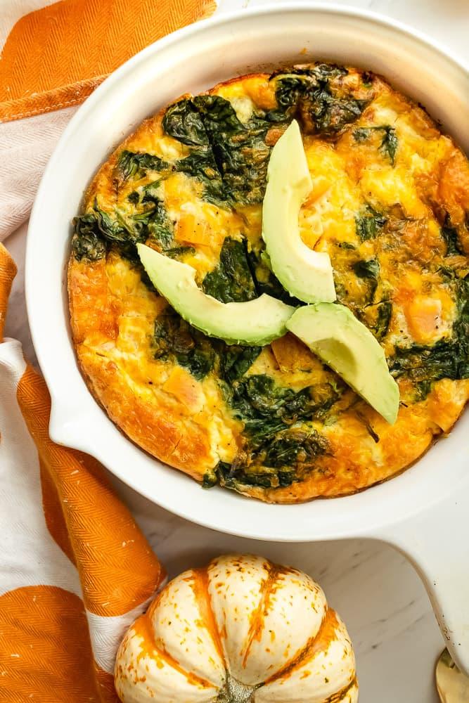butternut squash egg scramble