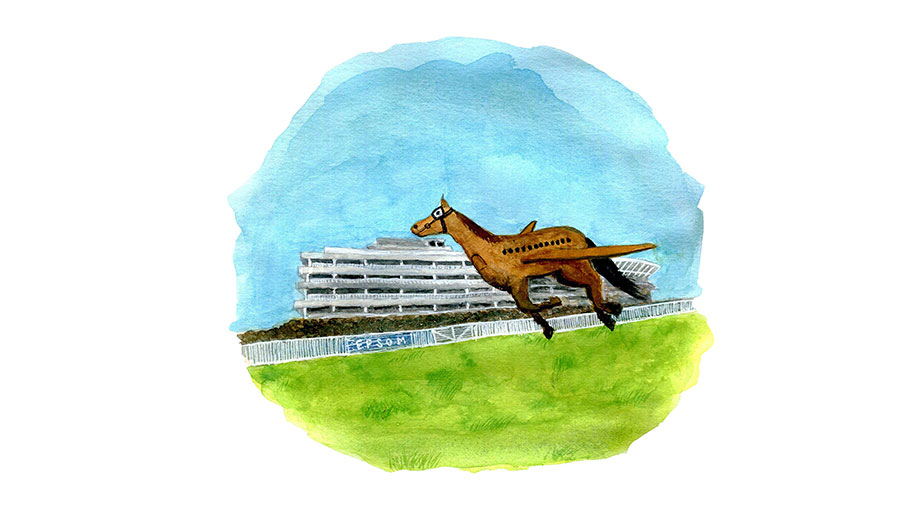 Epsom secrets. Epsom racecourse used as an airport in movies