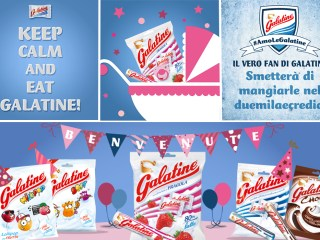 Galatine caramelle latte e fragola