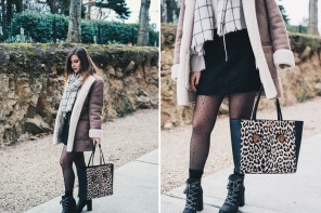 Cappotto shearling coat, shopper leopardata e stivaletti stringati col tacco: my Black Friday!