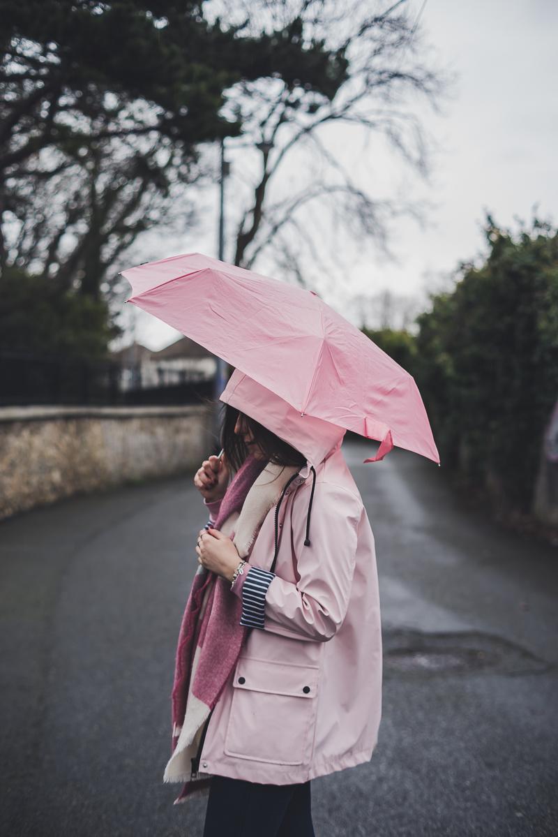 Stivali da pioggia rosa e giacca waterproof Topshop Hunter Boots Rainboots