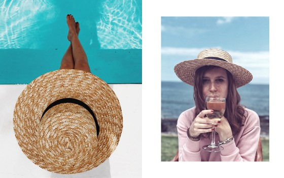 Tenerife, jumpsuit, straw hat, belt bag