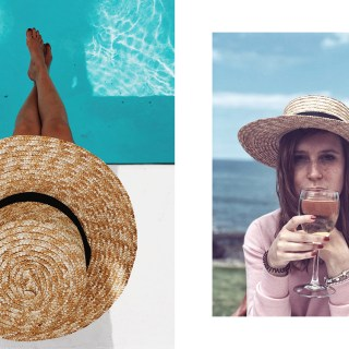 Tenerife, jumpsuit, straw hat, belt bag