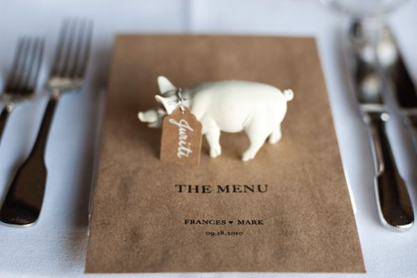 pig place card