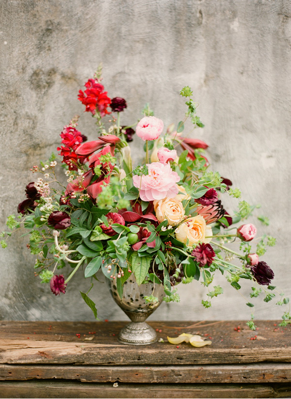 Italian Inspired Rustic Wedding Flowers Once Wed