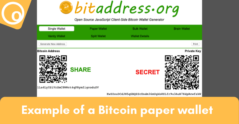 Example Bitcoin Paper Wallet 2