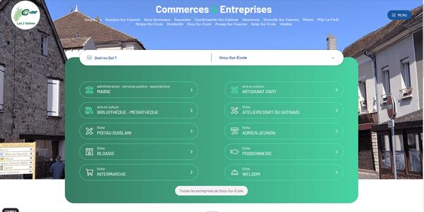 Annuaire des Entreprises & Commerces de la CC2V