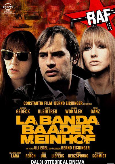 Image result for LA BANDA DI BAADER MEINHOF ( 2008 ) POSTER
