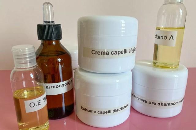 Prodotti cosmetici test pre produzione