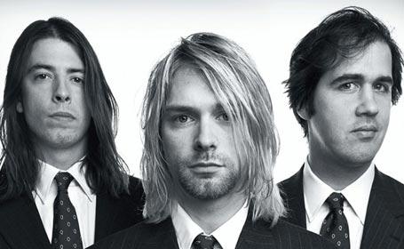 Nirvana. Da sinistra a destra: Dave Grohl, Kurt Cobain, Krist Novoselich