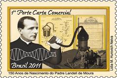 Selo comemorativo aos 150 anos de Landell de Moura