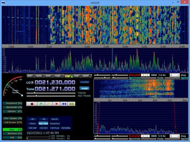 Software HDSDR em ação