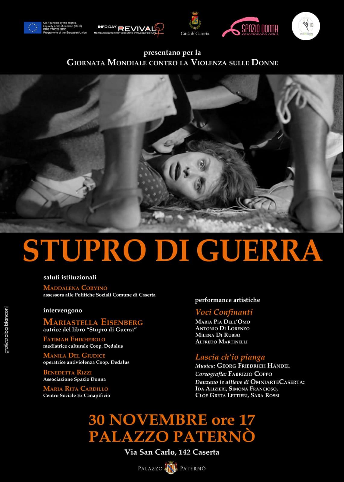 Stupro di guerra. A Palazzo Paternò va in scena Spazio DonnaStupro di guerra.  A Palazzo Paternò va in scena Spazio Donna - Ondaweb TV