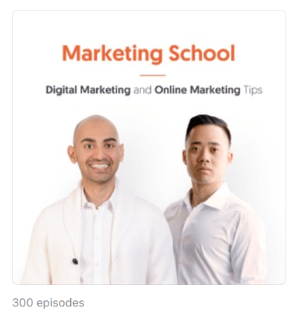 Podcasts over Marketing School - Digital Marketing and Online Marketing Tips on Apple Podcasts